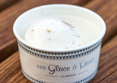 Glace au maïs grillé, Une glace à Paris