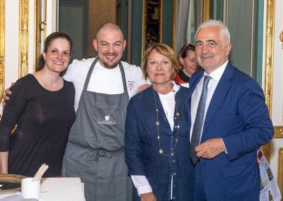Jérémie Le Calvez, Sonia Dupuis et Guy Savoy