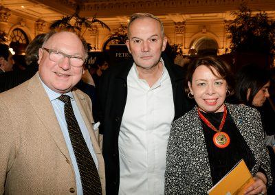 Bernard Antony, Christian Le Squer (Le Cinq, 8e) et Katherine Khodorowsky