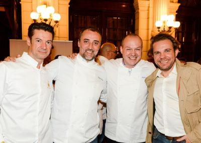 Alain Pégouret (Le Sergent Recruteur, 4e), Frédéric Duca (Rooster, 17e), Frédéric Simonin (Frédéric Simonin Restaurant, 17e) et Nicolas Sale (Ritz, 1e)