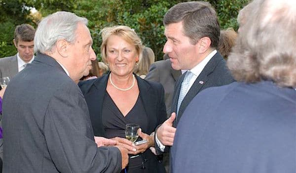 Robert Materne, Sonia Dupuis, Charles Rivkin ambassadeur des USA en France