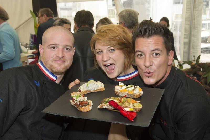 De gauche à droite Jonathan Buirette, Sophie Fernandez, Nicolas Rieffel - Cook and Com