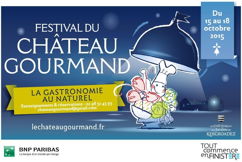 affiche festival chateau gourmand