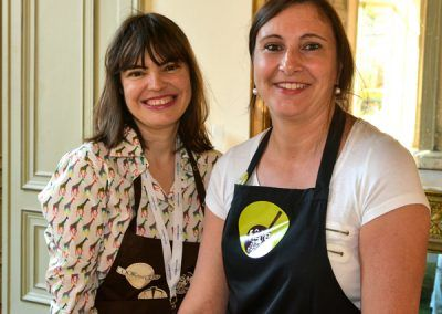 Atelier spaghettis légumes avec Christelle Berthillot, Patricia de Figueiredo
