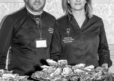 Sophie Fernadez et Jonathan Buirette - MOF poissonnier écaillers 2015