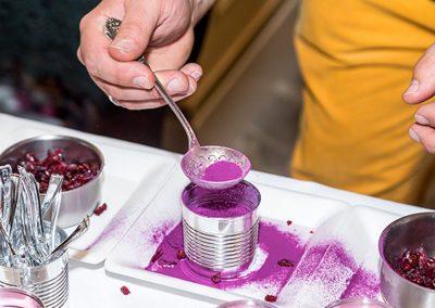 Dessert Patates douces et Cranberries préparé par Jonathan Blot