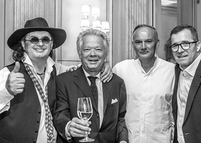 Marc Veyrat, Gilles Pudlowski, Christain Le Squer, Nicolas Stamm