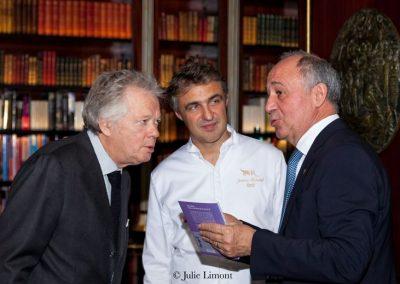 Gilles Pudlowski, Jérôme Banctel et Marc Haeberlin