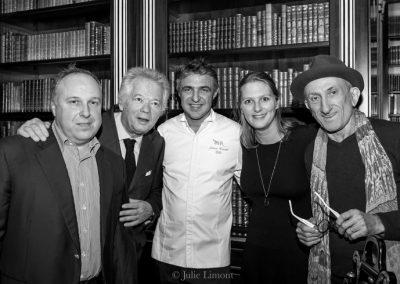 Alain Soliveres, Gilles Pudlowski, Jérôme Banctel, Anne Luzin et Dereck