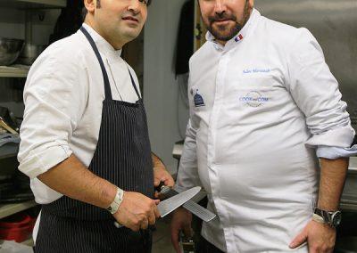 Preparation dîner de gala par Alan Geamm et Julien Marseault
