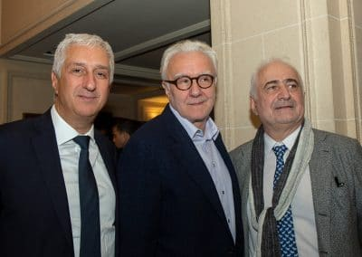 Alain Ducasse, Stéphane Layani et Guy Savoy