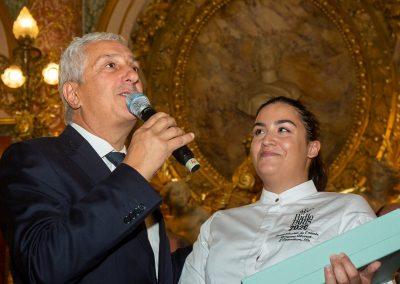 Trophée du Marché International de Rungis pour Morgane Alzerat, Transmission de l'Année-Pudlo 2020 et Stéphane Layani, Président du Marché International de Rungis