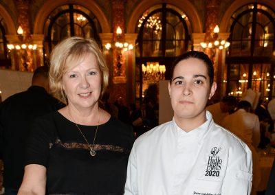 Nathalie Petit (Alaska Seafood) en partenariat avec Julia Sedfedjian (Jeune Cuisinière de l'Année), restaurant Baieta (5e)