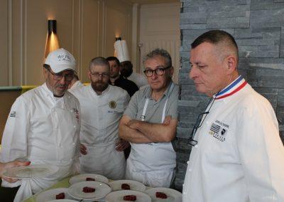Jean-Luc L'Hourre (MOF), Gérard Boscher (IFAC), Florian Lichel, Vincent Clouzeau (Le Saint), Patrick Jeffroy