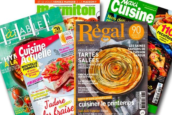 Relations presse : Presse grand public sur la cuisine