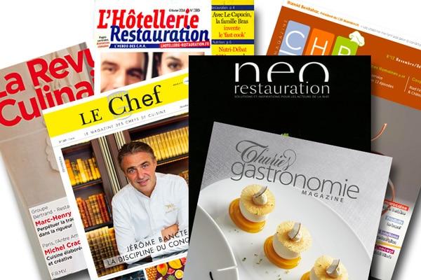 Relations presse : Presse professionnelle spécialisée en gastronomie.
