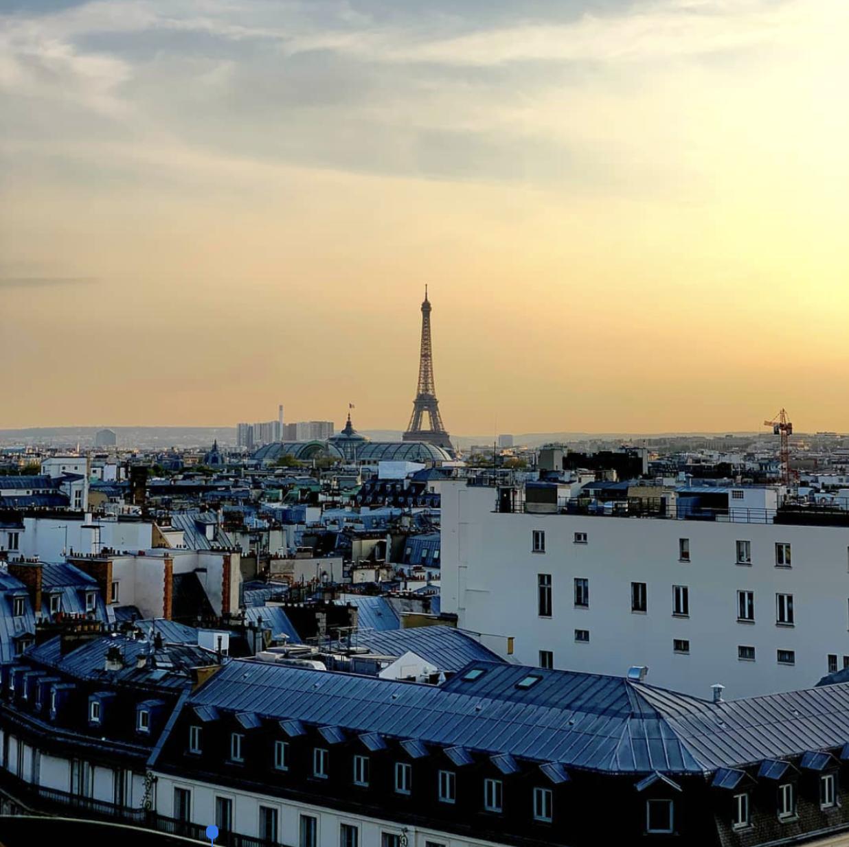 Rooftop Perruche / Terrasse vue tour eiffel Paris