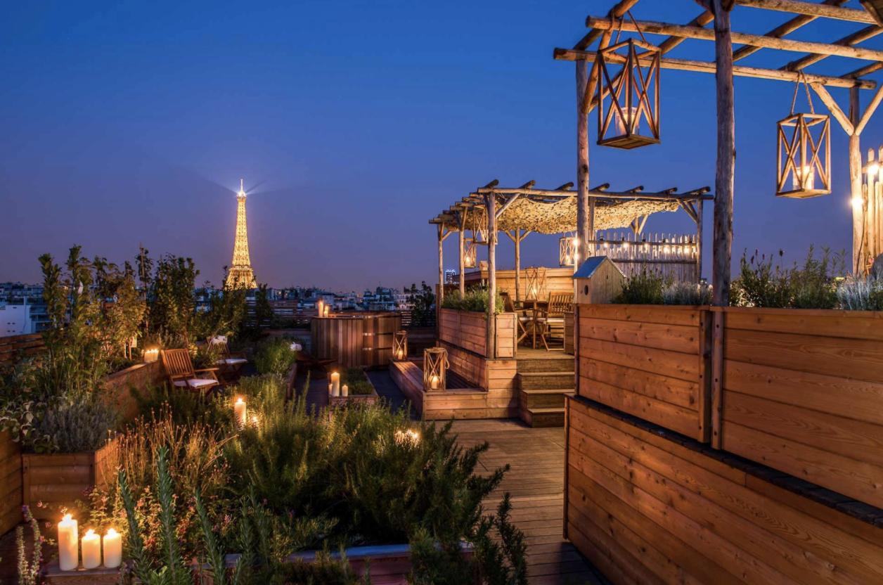Rooftop Paris / Terrasse vue tour eiffel Paris