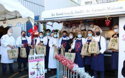 Retour sur l'opération des «Tables de Noël» 2020 à l'initiative de l'association Les Bouffons de la Cuisine