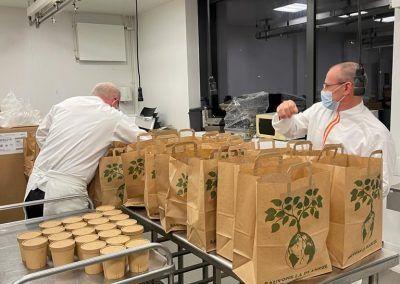 Les sacs en préparation
