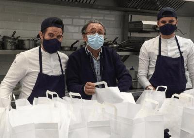 Les Bouffons de la Cuisine repas suspendus à Brest